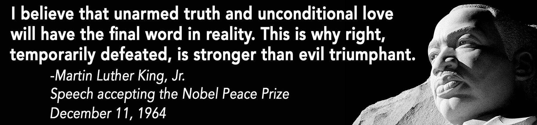 Martin Luther King, Jr. Speech accepting the Nobel Peace Prize